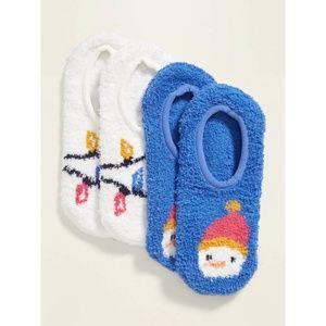 Cozy Gripper Sneaker Socks 2-Pack